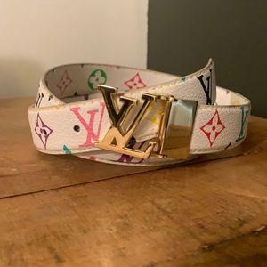 [Louis Vuitton] Multicolor Monogram Leather Belt